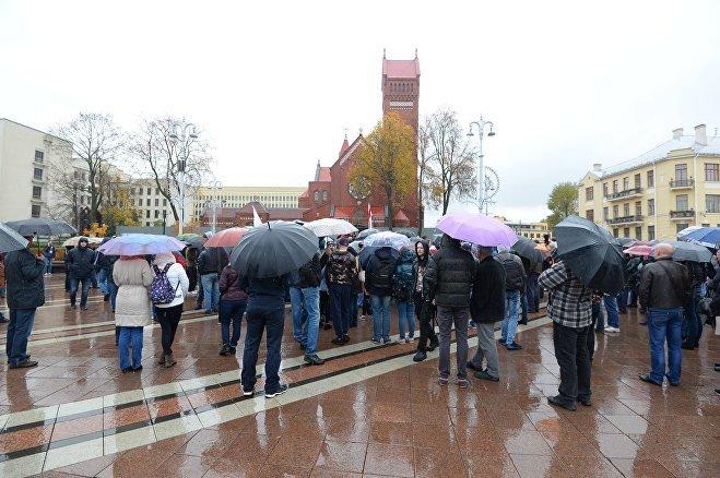 Оппозиция проводит вцентре Минска «Марш возмущенных белорусов 2.0»