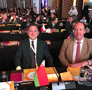 Первый заместитель главы МИД Беларуси Андрей Евдоченко принял участие во встрече международных участников ЭКСПО-2020