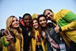 Участники XIX Всемирного фестиваля молодежи и студентов в Сочи