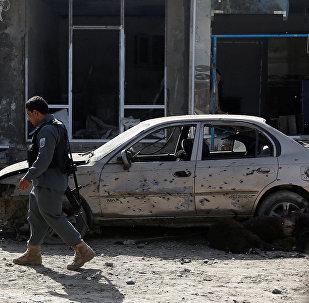 Сотрудник полиции в Кабуле