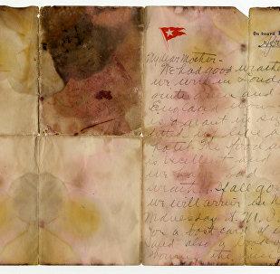 Проданное с аукциона письмо погибшего пассажира Титаника
