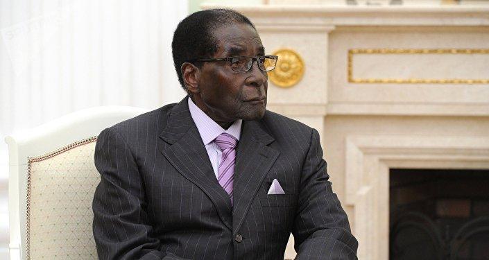 Президент Республики Зимбабве Роберт Мугабе, архивное фото