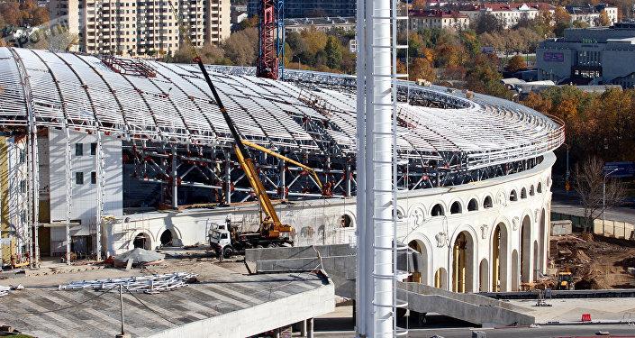 Стадион Динамо Минск - реконструкция 2017 года