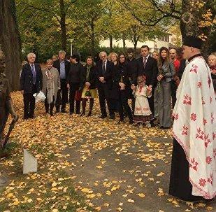 Урачыстая цырымонія адкрыцця помніка Тадэвушу Касцюшку ў Залатурне