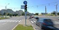 Перекресток проспекта Победителей и проспекта Машерова в Минске, архивное фото