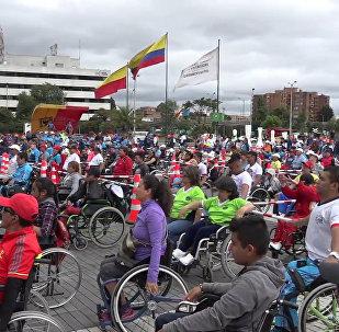 Около 650 человек на инвалидных колясках попытались установить мировой рекорд