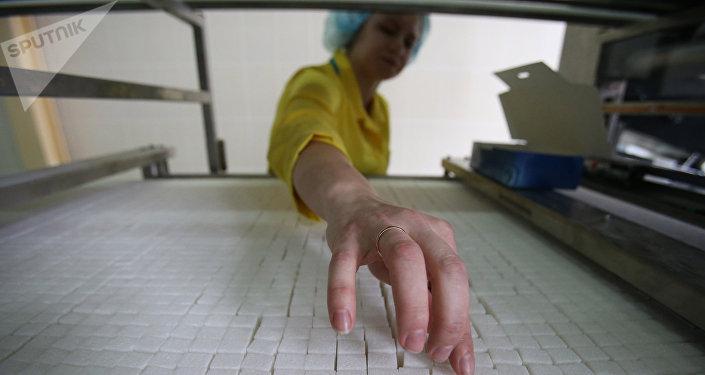 Работа сахарного завода в городе Слуцк
