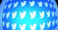 Логотип социальной сети Twitter на экране смартфона