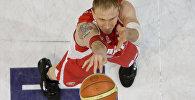 Белорусский баскетболист Егор Мещеряков, архивное фото