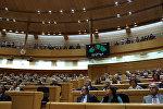 Подсчет в Сенате Испании результатов голосования, одобряющих чрезвычайные меры по контролю над Каталонией