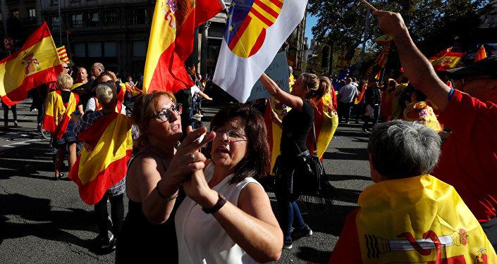 Митинг в Барселоне, архивное фото