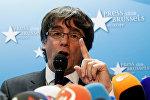 Пресс-конференция Карлеса Пучдемона в Брюсселе, фото с места событий