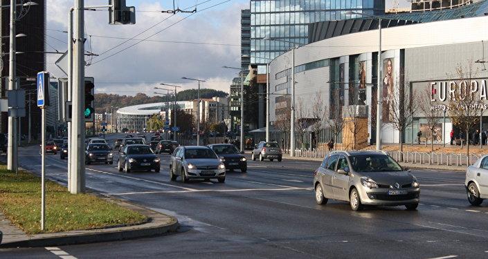 Проспект в Вильнюсе, архивное фото