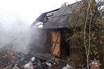 Место пожара в Полоцке