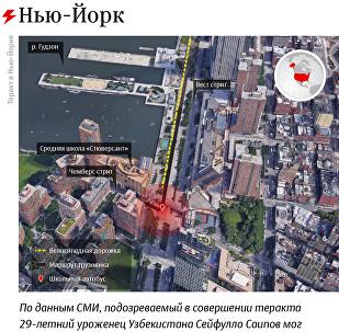 Теракт в Нью-Йорке 31 октября 2017 – инфографика на sputnik.by