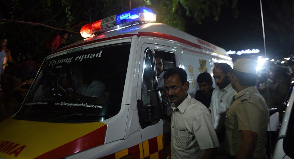 Из-за взрыва на станции повыробатыванию электричества вИндии пострадали неменее 100 человек