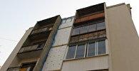 Пятиэтажка в центре Гродно, в которой несколько месяцев делают капремонт