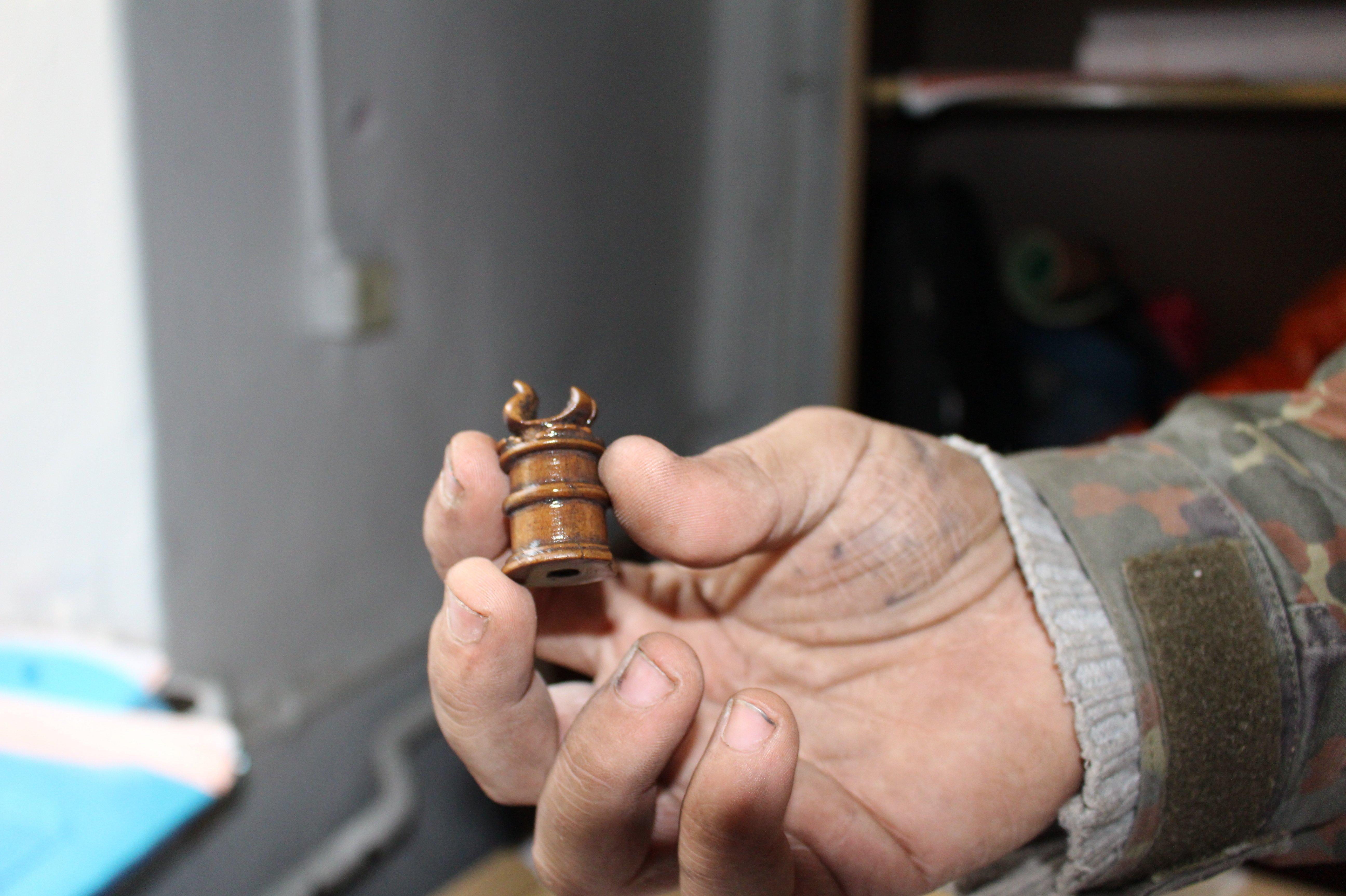 Шахматная ладья предположительно XIV века была найдена 25 октября на территории Старого замка
