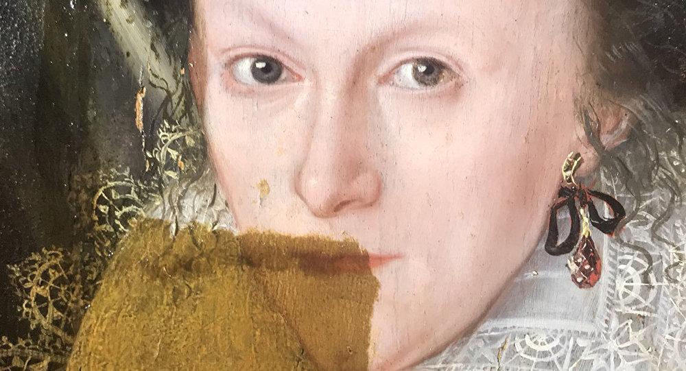 Вглобальной паутине появилось видео «отмывания» картины 17 века