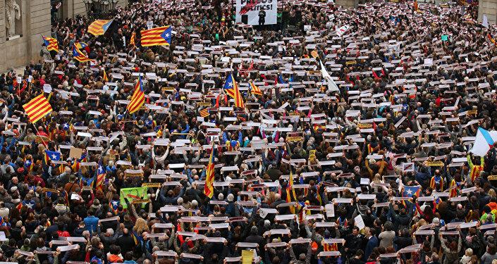 Забастовка в Барселоне, фото с места событий