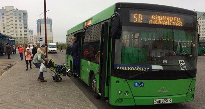 Автобус в Гродно, архивное фото
