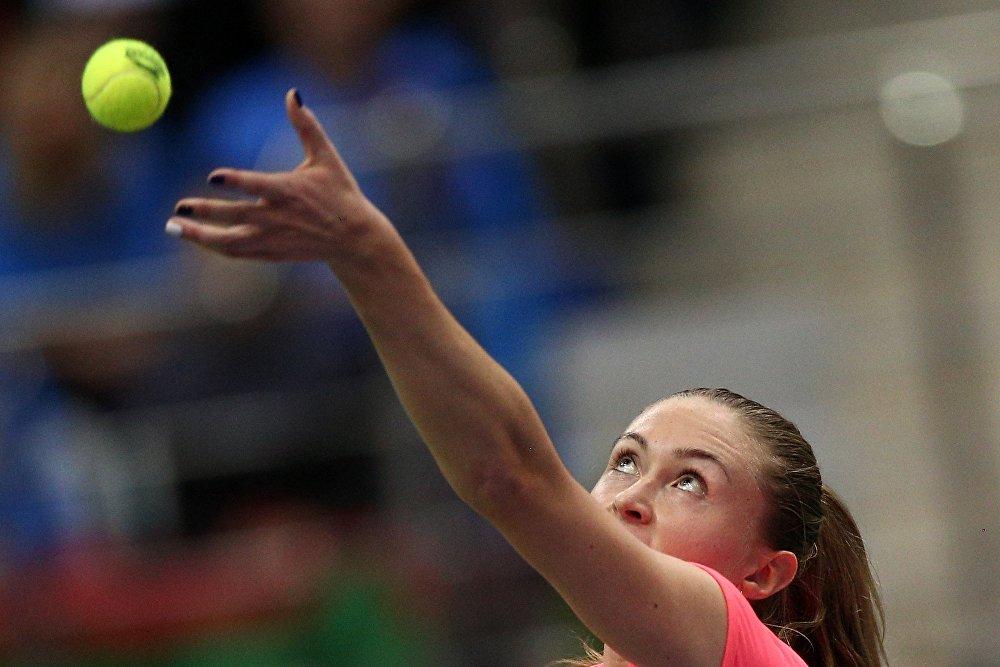 Александра Саснович в финале Кубка Федерации по теннису