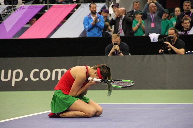 После победы Арина Соболенко не могла сдержать эмоции