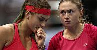 Арина Соболенко и Александра Саснович в парной встрече против Коко Вандевеге и Шелби Роджерс