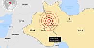 Землетрясение на границе Ирана и Ирака – инфографика на sputnik.by