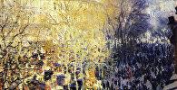 Репродукция картины Клода Моне Бульвар капуцинок в Париже