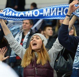 Болельщики хоккейного клуба Динамо-Минск