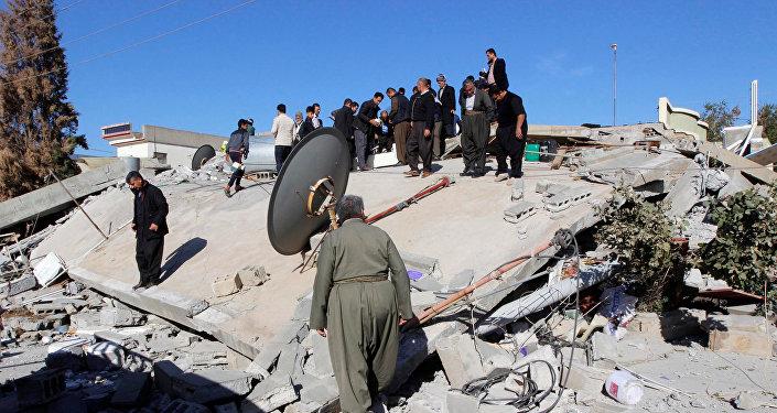 Мощное землетрясение на Ближнем Востоке