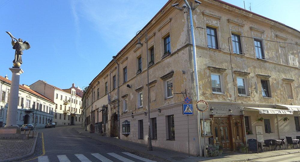 Площадь в Ужуписе, Вильнюс, архивное фото