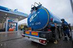 Работа заправочной станции Газпромнефть в Санкт-Петербурге