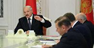 Президент Беларуси Александр  Лукашенко на совещании по вопросам работы кредитно-финансовых организаций в стране