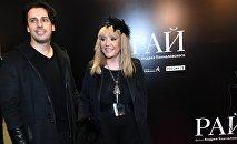 Певица Алла Пугачева и ее супруг телеведущий Максим Галкин на премьере фильма Андрея Кончаловского Рай