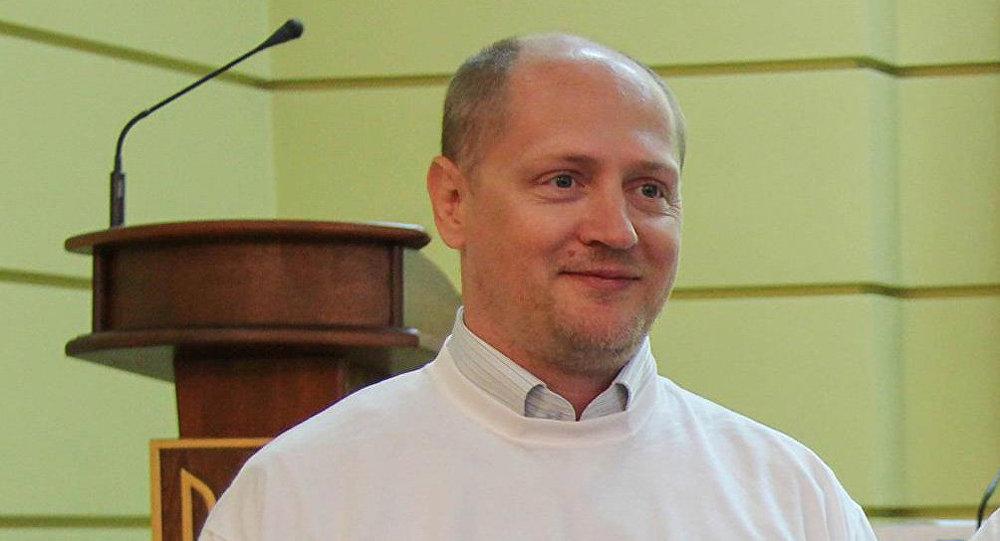 БелорусскоеТВ показало кадры допроса Шаройко, обвиняемого вшпионаже впользу Украинского государства