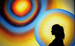 На выставке работ Олега Орлова.
