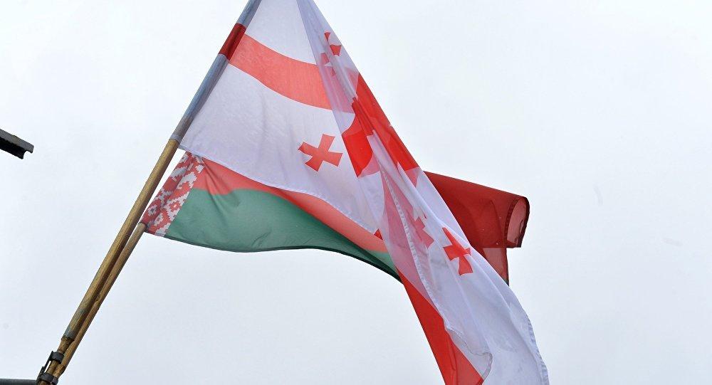 Сцягі Грузіі і Беларусі