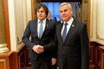 Владимир Андрейченко на встрече с председателем грузинского парламента Ираклием Кобахидзе