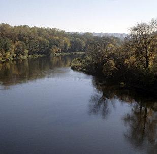 Река Нерис, архивное фото