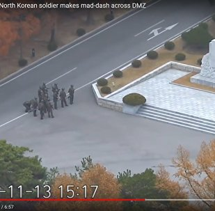 Опубликованы кадры побега солдата из КНДР в Южную Корею