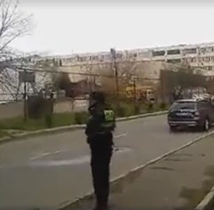 Появилось видео с места спецоперации в Тбилиси, где погиб спецназовец