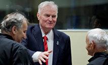 Генерал Ратко Младич в Международном суде в Гааге