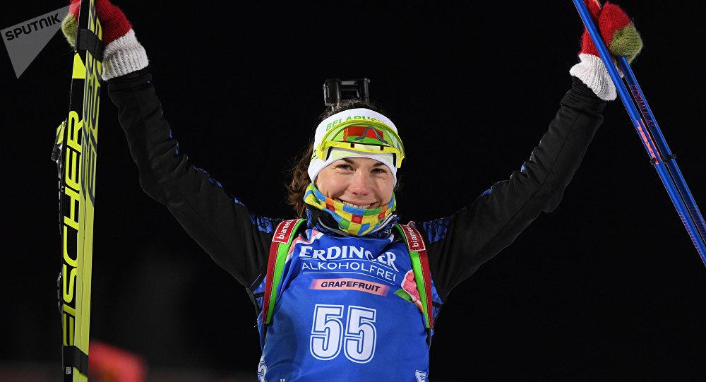 Персональную гонку наэтапеКМ выиграла белоруска Скардино